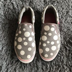 VANS OFF THE WALL polka dot slip on sneakers